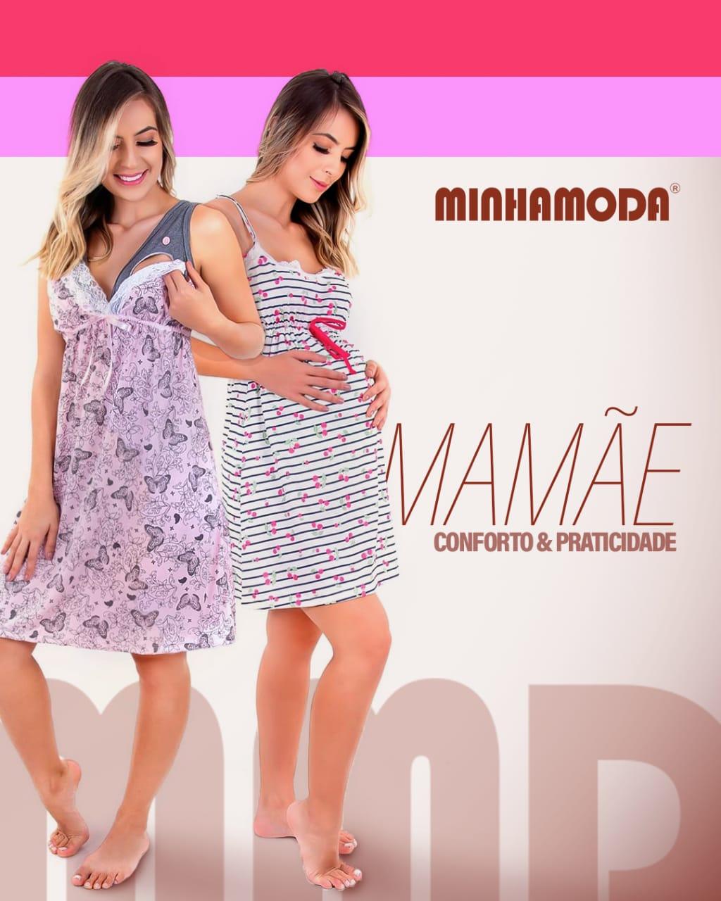 Conjunto Pijama Camisola para Gestante